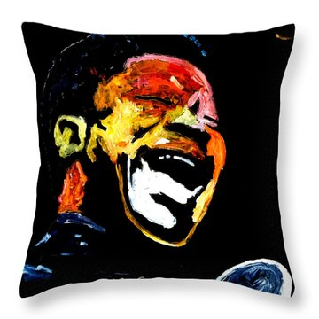 Tribute To Bb King Throw Pillow