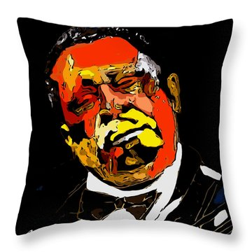 tribute to BB King reworked Throw Pillow