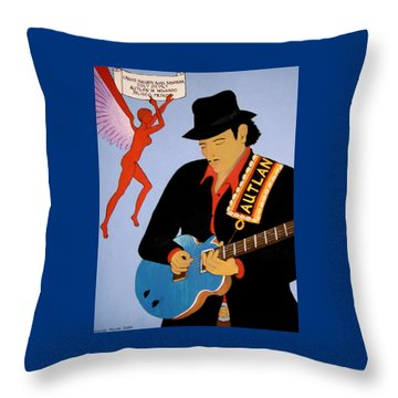 Throw Pillow featuring the painting Tribute To Carlos by Stephanie Moore