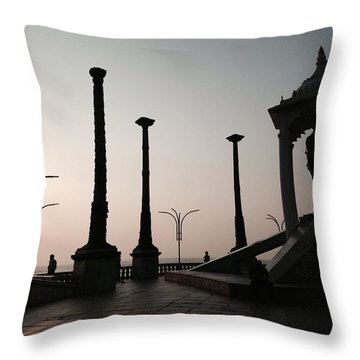 Tribute To Gandhi  Throw Pillow
