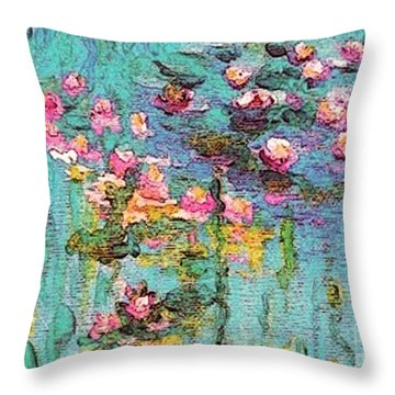 Tribute To Monet II Throw Pillow