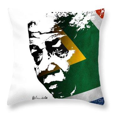 tribute to Nelson Mandela Throw Pillow