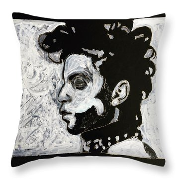 Tribute To Prince Throw Pillow