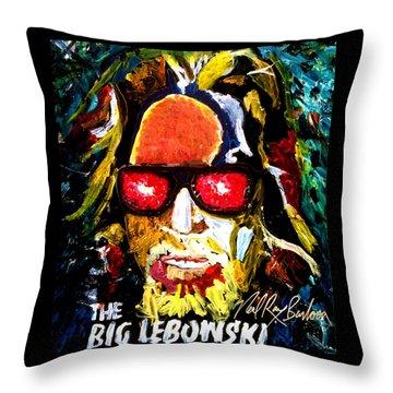 tribute to THE BIG LEBOWSKI Throw Pillow