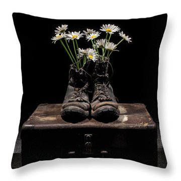 Throw Pillow featuring the photograph Tribute To The Fallen by Aaron Aldrich