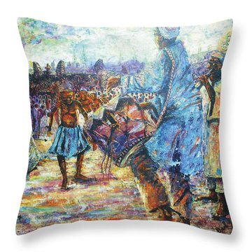 Tribute To The Royal Fathers Throw Pillow