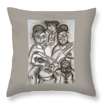 Tribute To The String Bass Throw Pillow