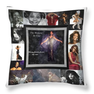 Tribute Whitney Houston One Moment In Time Throw Pillow