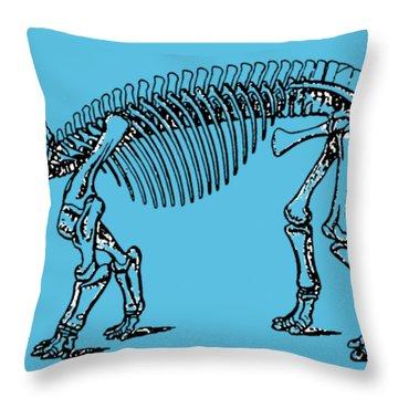 Triceratops Dinosaur Tee Throw Pillow