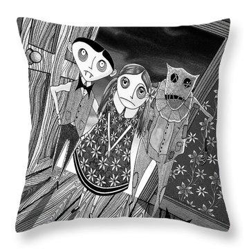 Trick Throw Pillows