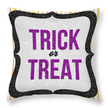Trick Or Treat- Art By Linda Woods Throw Pillow