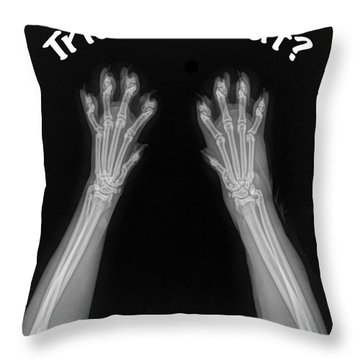 Throw Pillow featuring the photograph Trick Or Treat by Bill Thomson