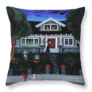 Trick-or-treat Throw Pillow