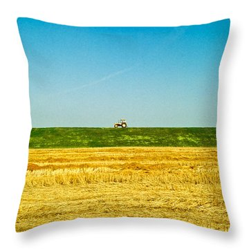Tricolor With Tractor Throw Pillow