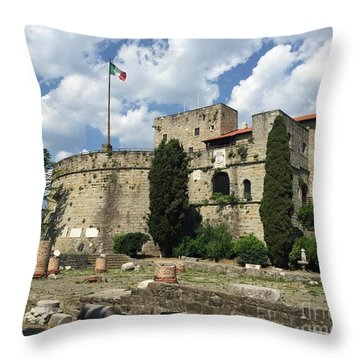 Trieste Castle San Giusto Italy Throw Pillow