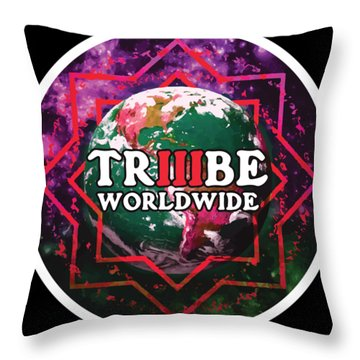 Triiibe Worldwide By Lorcan Throw Pillow