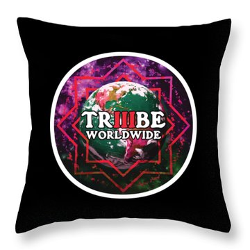 Triiibe Worldwide By Lorcan Throw Pillow