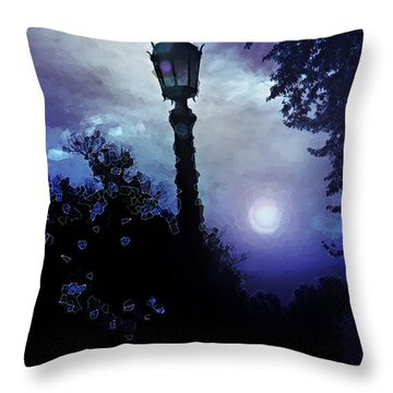 Trilight Throw Pillow by Kat Besthorn