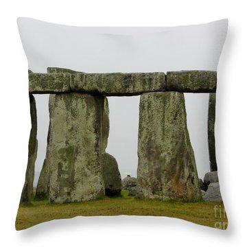 Trilithons Throw Pillow by Priscilla Richardson