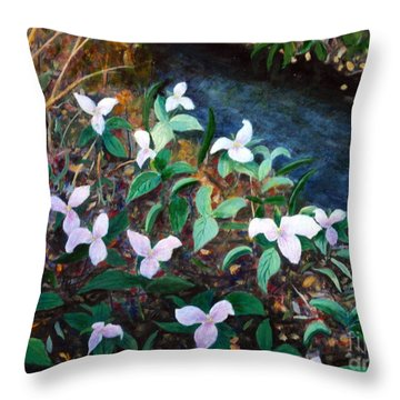 Trilium Woods Throw Pillow