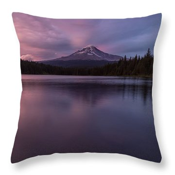 Throw Pillow featuring the photograph Trillium Lake Glow by Patricia Davidson