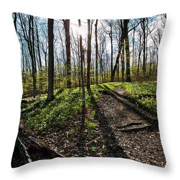 Trillium Trail Throw Pillow