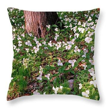 Trillium Woods No. 1 Throw Pillow