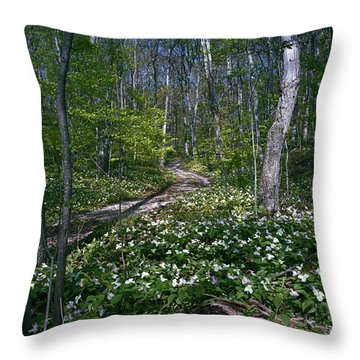 Trillium Woods No. 2 Throw Pillow