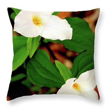 Trillium Pair Throw Pillow