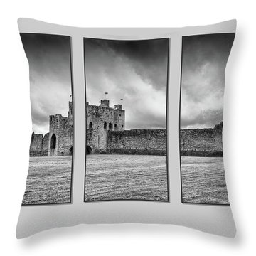Trim Castle Triptych  Throw Pillow