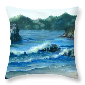 Trinidad Beach Throw Pillow