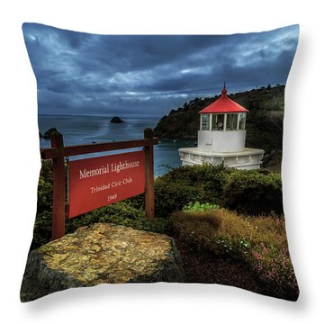 Throw Pillow featuring the photograph Trinidad Memorial Lighthouse by James Eddy