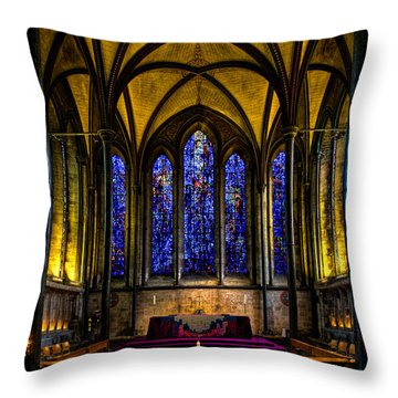 Trinity Chapel Salisbury Cathedral Throw Pillow