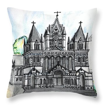 Trinity Church Boston Throw Pillow