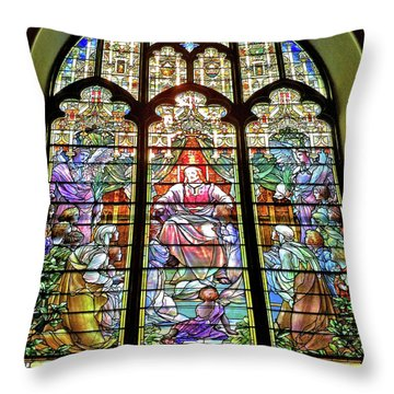 Trinity Church Galveston Throw Pillow