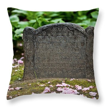 Trinity Church Tombstone Throw Pillow