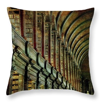 Trinity College Library Throw Pillow