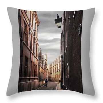 Throw Pillow featuring the photograph Trinity Lane Cambridge by Gill Billington