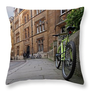 Throw Pillow featuring the photograph Trinity Lane Clare College Cambridge Great Hall by Gill Billington
