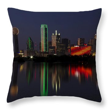 Trinity River Dallas Throw Pillow