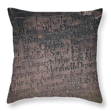 Trinity Tombstone Throw Pillow