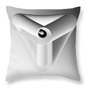 Throw Pillow featuring the digital art Trinity White by Susan Maxwell Schmidt