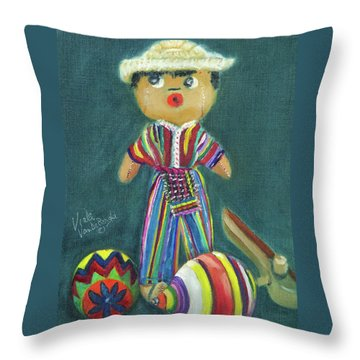 Trinkets From Guatemala Throw Pillow