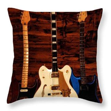 Trio Throw Pillow by Lourry Legarde