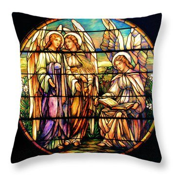 Trio Of Angels Throw Pillow
