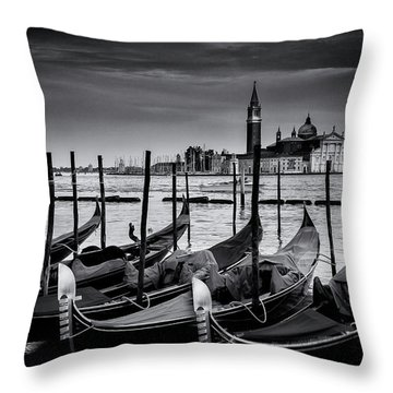 Trio Of Gondolas Throw Pillow