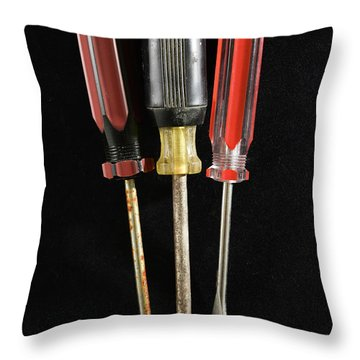 Trio Of Screwdrivers Throw Pillow