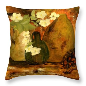 Trio Vases Throw Pillow