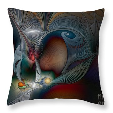 Throw Pillow featuring the digital art Trip Into Unknown by Karin Kuhlmann