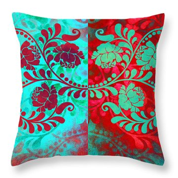 Throw Pillow featuring the digital art Trip The Night Fantastic Together by Angelina Vick